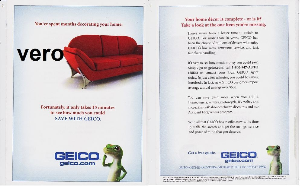 Geico Auto Quote Custom Geico Insurance 2011 Magazine Ad Gecko Advertisement Print Clipping