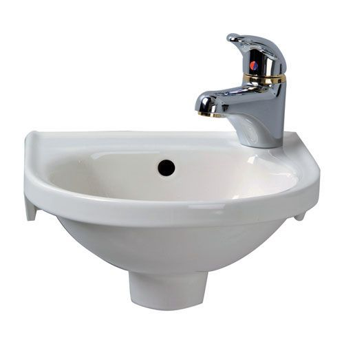 Rosanna White Wall-Mounted Sink