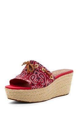 d71ad4dae1d Sperry Top-Sider Hillsboro Red Platform Sandal   Wearable Art ...