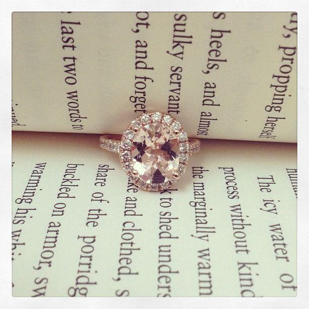Morganite and Rose gold engagement ring