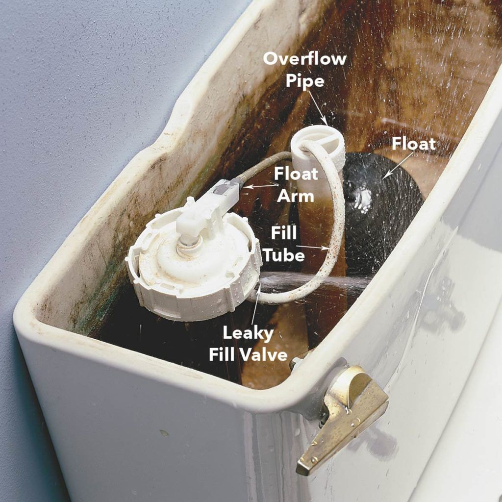 How to fix a running toilet toilet repair fill valve