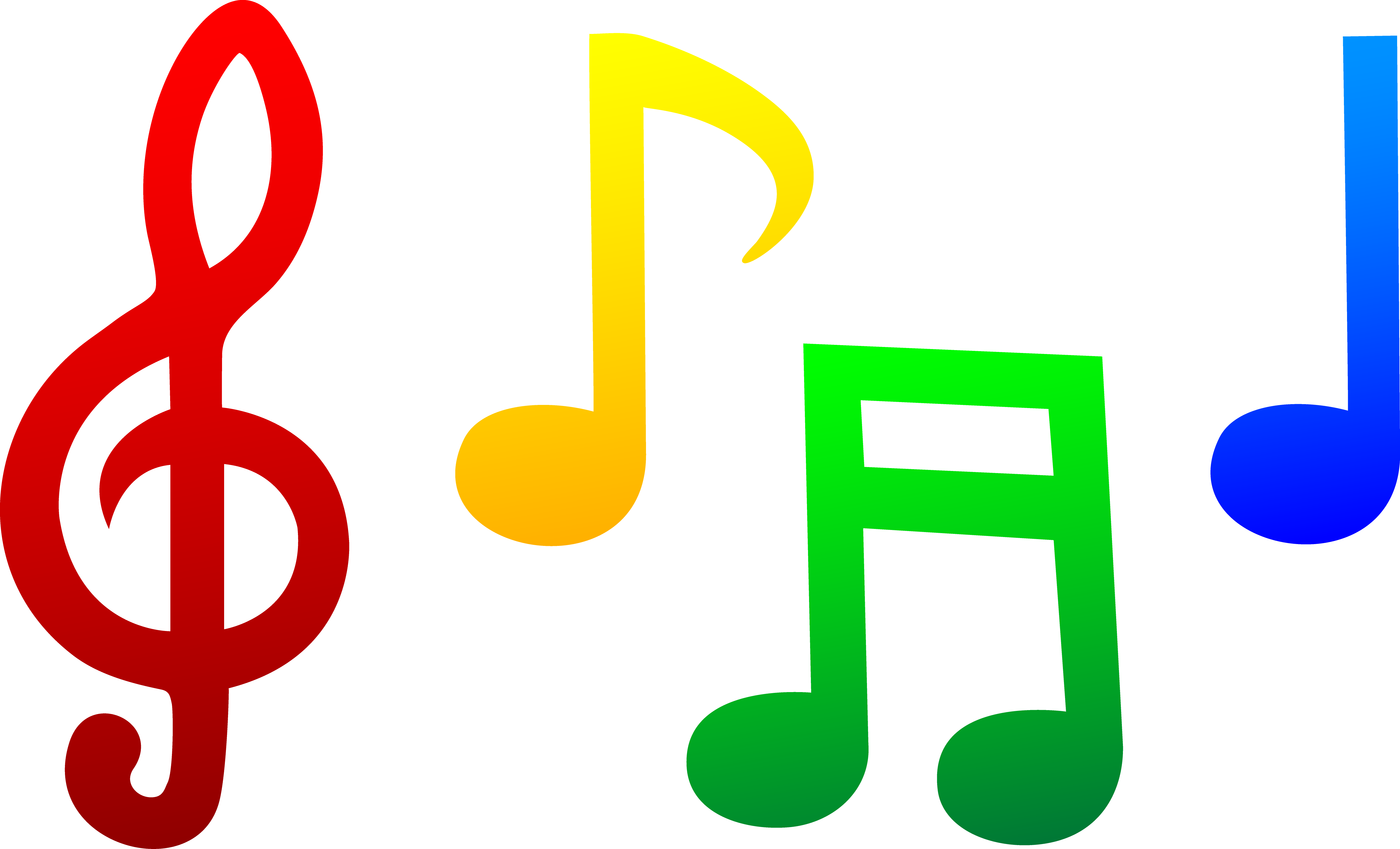 colorful20music20note20clip20art Notas musicales