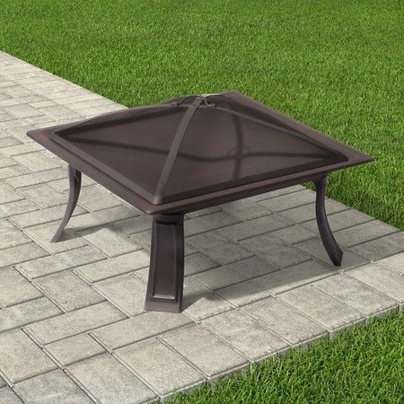 Square Folding Steel Fire Bowl 26 Threshold Target Pit