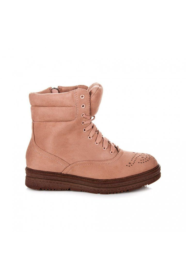 47279f3eb76c Ružové členkové topánky Melinda 2115-20P