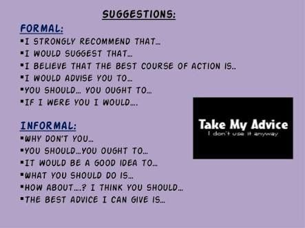 Pin by DEG on Expressions Pinterest English - suggestion letter
