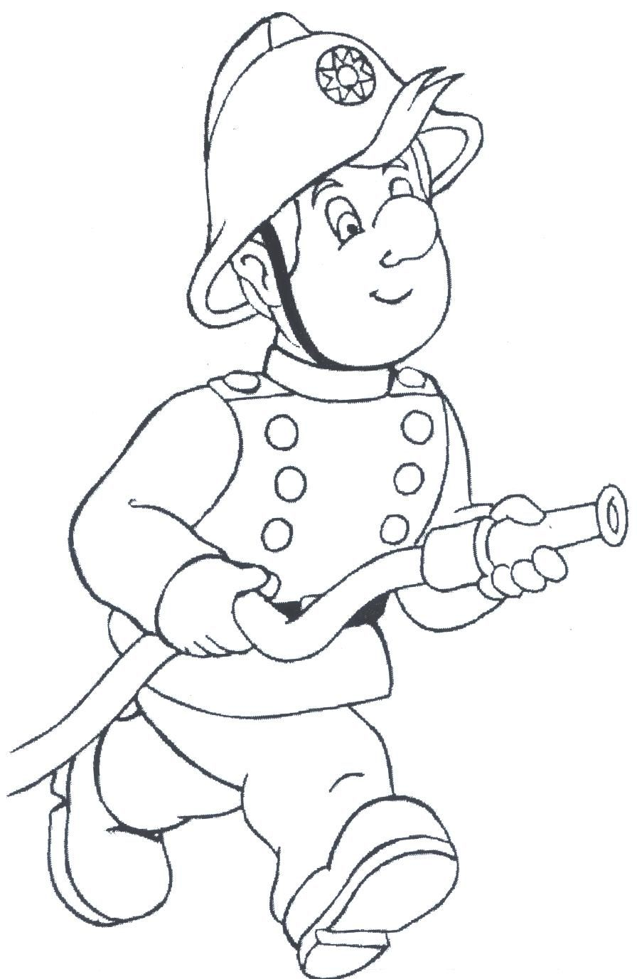 Ausmalbilder Feuerwehrmann Sam Drucken : Firefighter Coloring Pages Free Large Images Toddlers Preschool