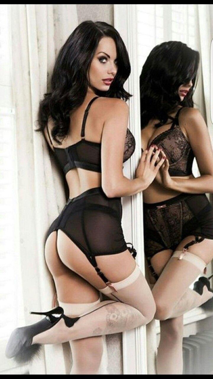 brunettes in lingerie Hot