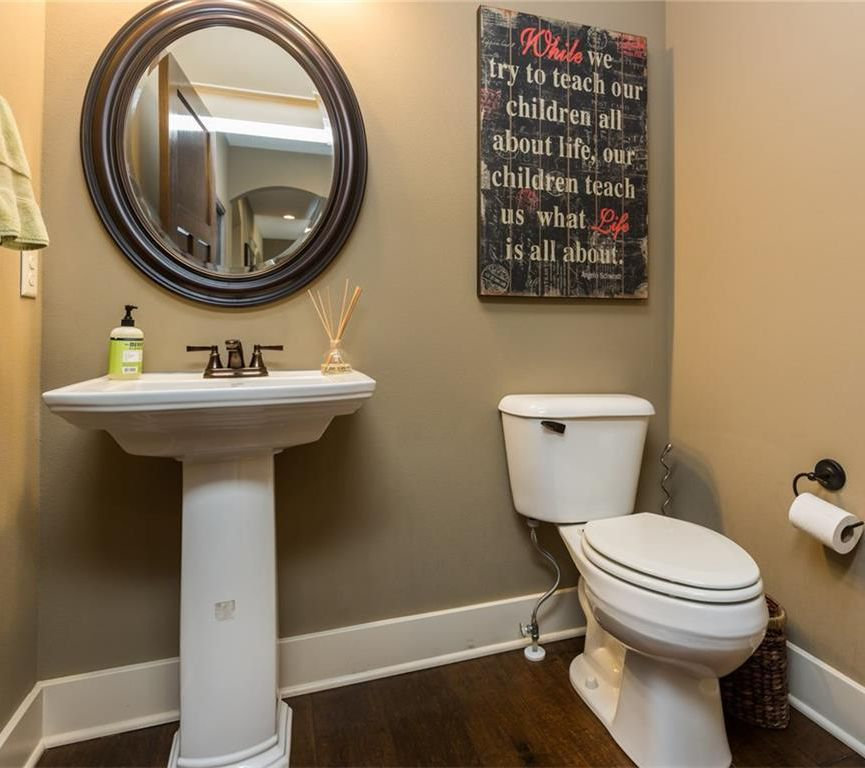 Traditional Powder Room With Wall Mirror By Darby Home Co Sku