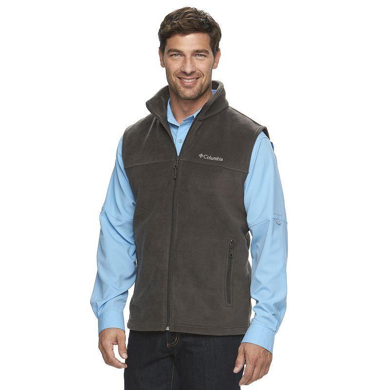 Big & Tall Columbia Flattop Ridge Colorblock Fleece Vest in