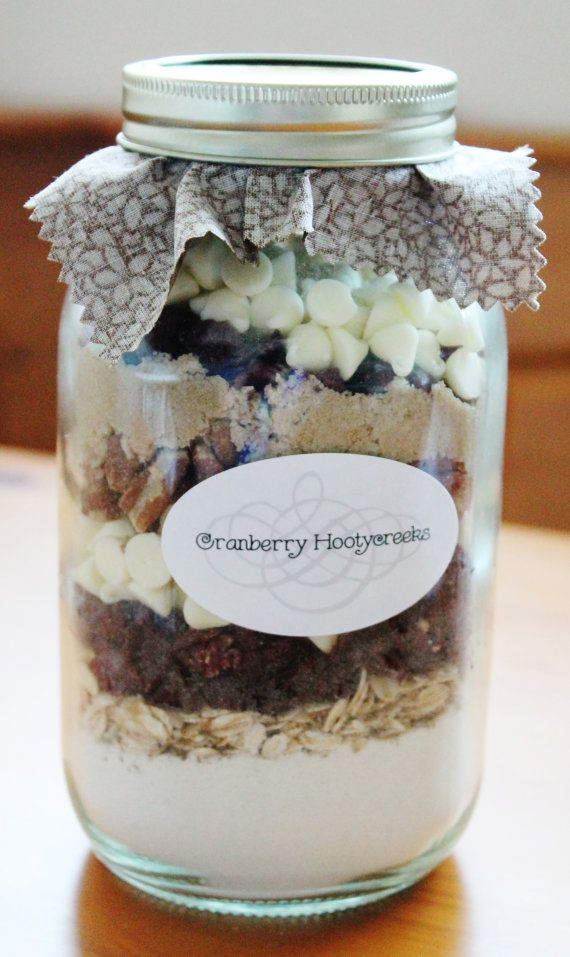Cranberry Hootycreek Mason Jar Cookie Mix