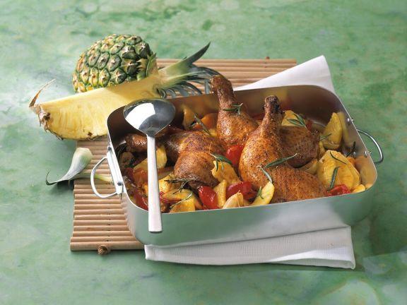 Ananas-Hähnchen ist ein Rezept mit frischen Zutaten aus der Kategorie Hähnchen. Probieren Sie dieses und weitere Rezepte von EAT SMARTER!