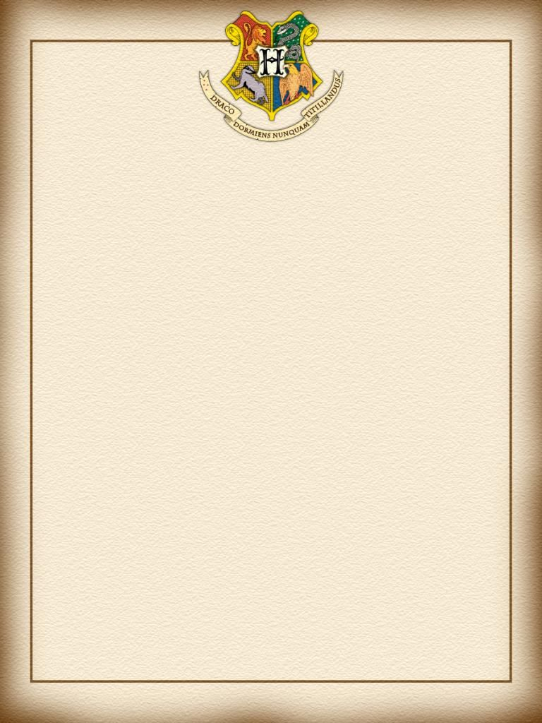 Hogwarts letter - Harry Potter - Project Life Journal Card