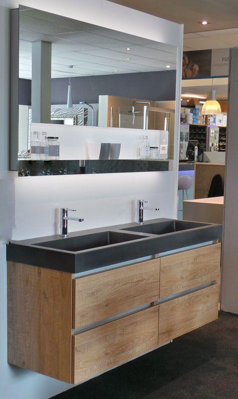 Dit robuuste, stoere badkamer meubel, Momento, is verkrijgbaar in ...