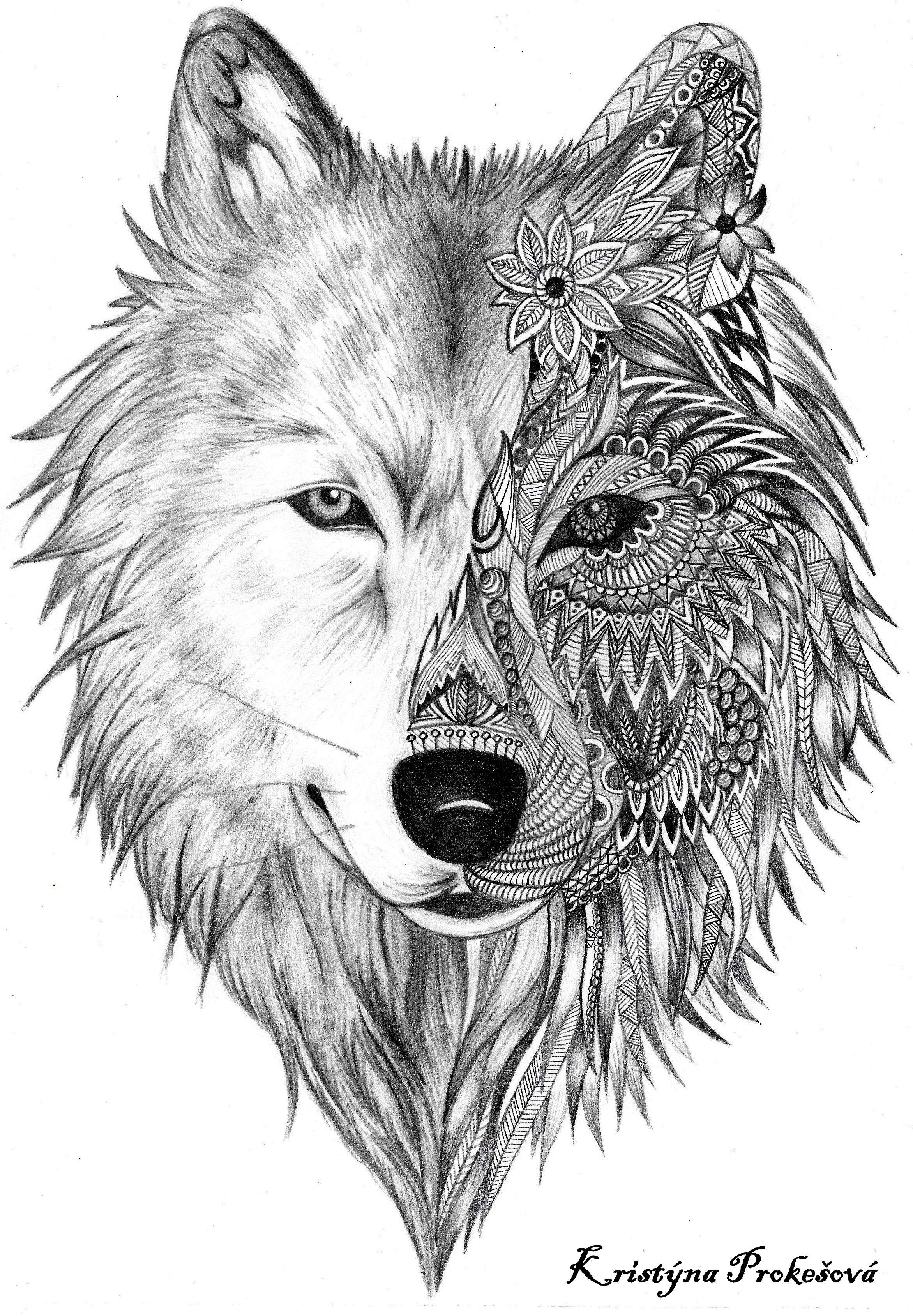 Coloriage De Loup Mandala.Coloriage Loup Mandala Coloriage Mandala Loup Vm95