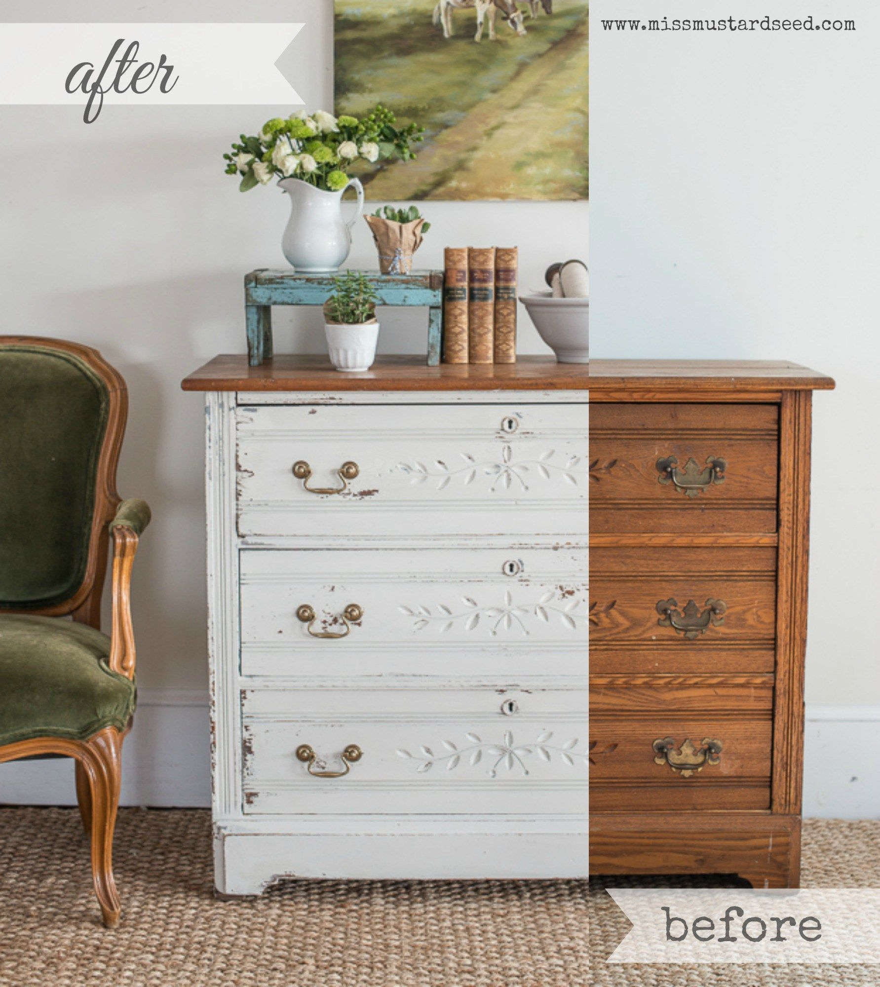 Hutch Makeover Before And After Green