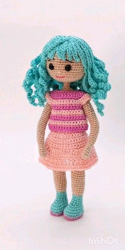 how make crochet hair for doll, crochet doll pattern, diy amigurumi doll