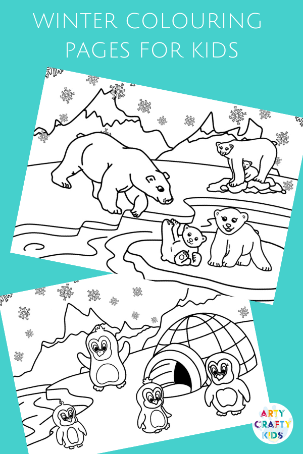 Winter Kids Colouring Pages 2dografo Coloring Pages For
