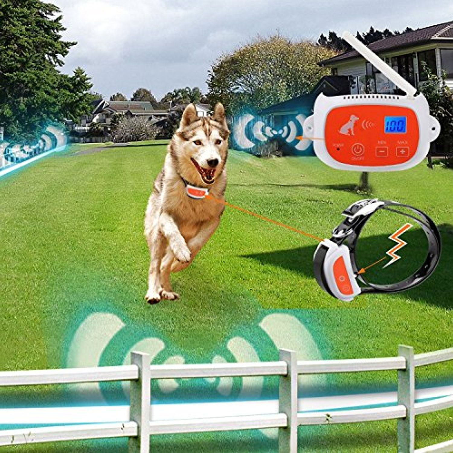 Portable Wireless 2 Dog Fence No Wires To Bury 800ft Containment System The 3nd Greneration Dt Wljk2 Check Out Thi Wireless Dog Fence Dog Fence Pet Fence