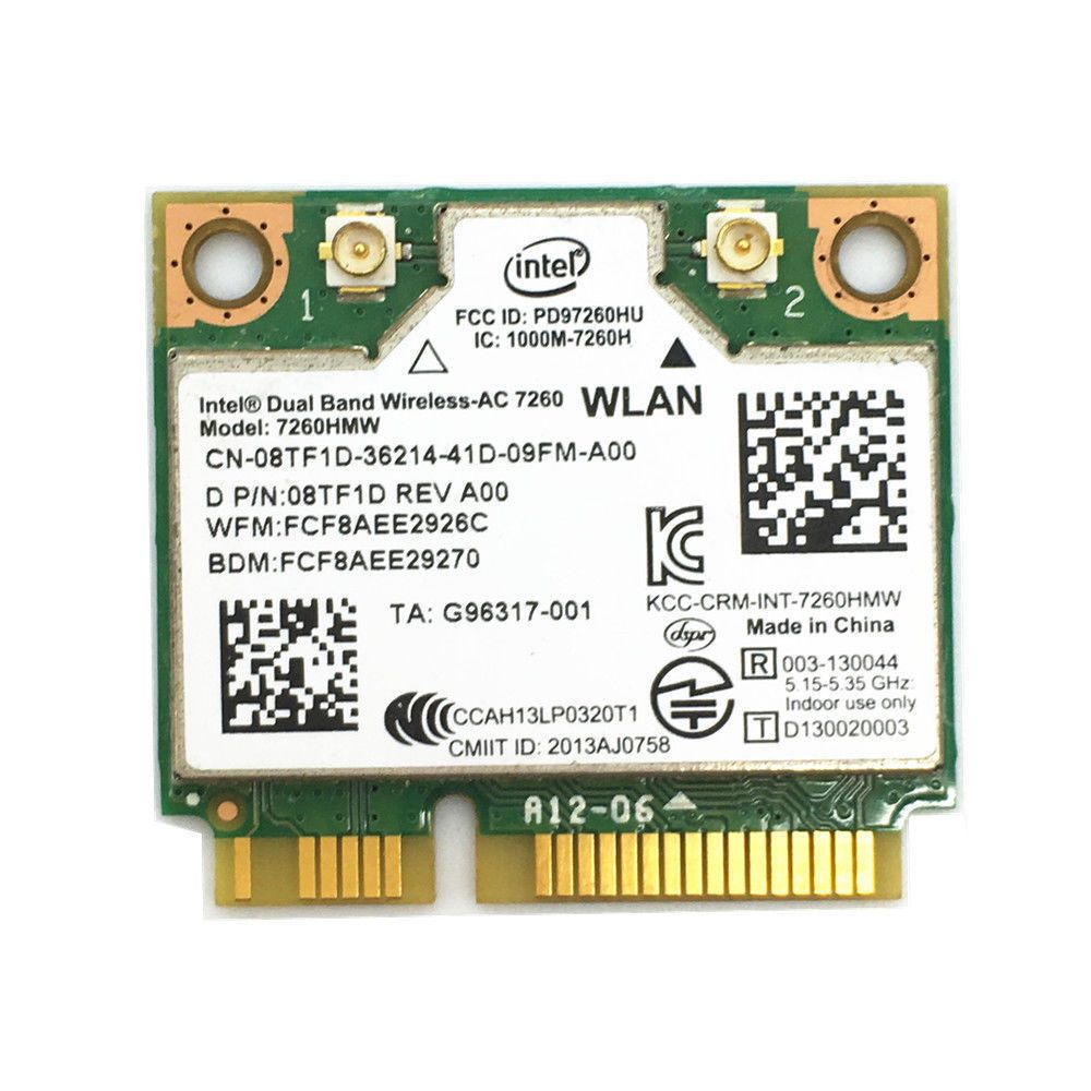 Dualband Wireless AC 7260 WLAN Karte 7260HMW 2x2 WLAN Bluetooth 4.0 WLAN Karte Fit f/ür Thinkpad