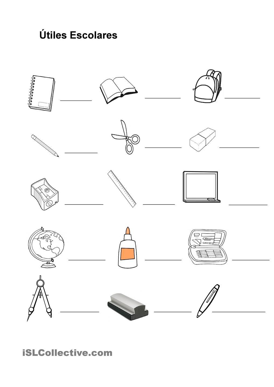 Pix for utiles escolares en ingles escuela ingles for 10 objetos en ingles del salon de clases