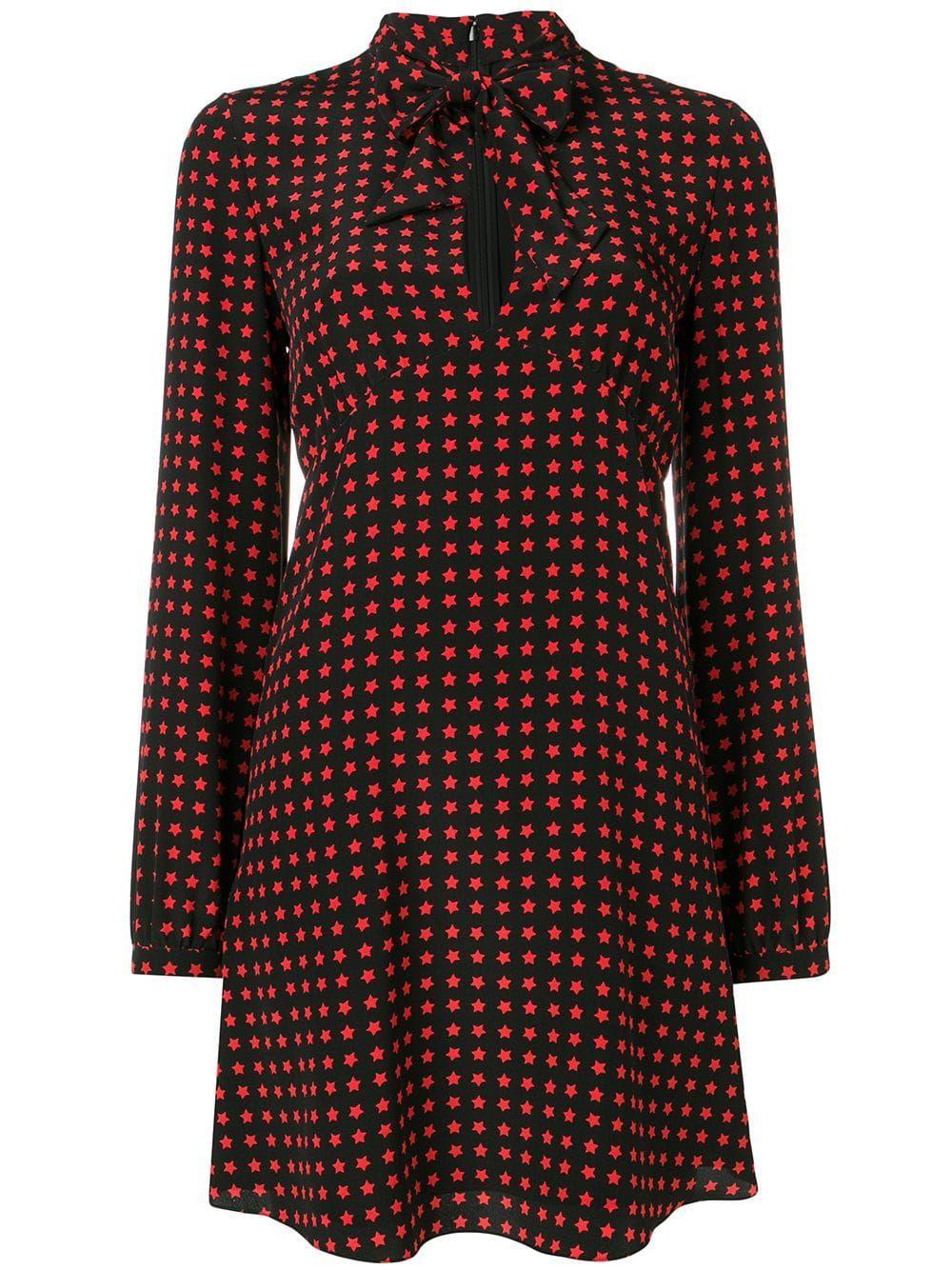 c7cd758bf62 Saint Laurent star print dress - Black Saint Laurent, Silk Mini Dress, Star  Print