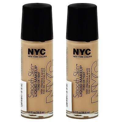 (2 Pack) NYC New York Color Smooth Skin Liquid Makeup, SOFT BEIGE - 679
