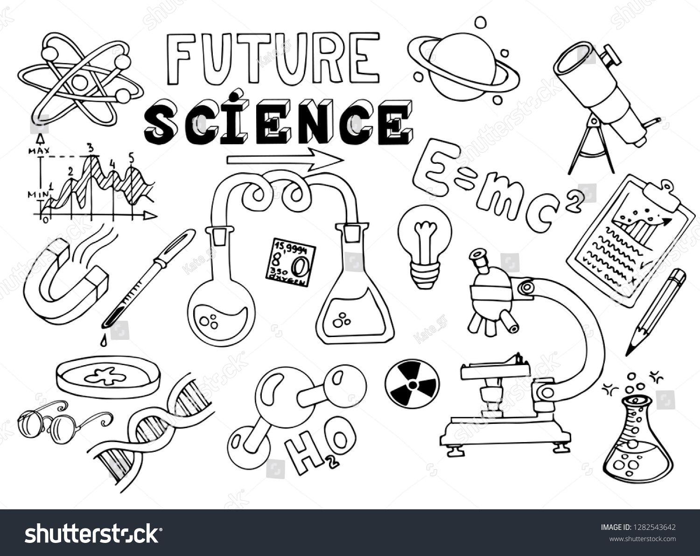 Hand Drawn Science Sketch Education School Vector Illustration