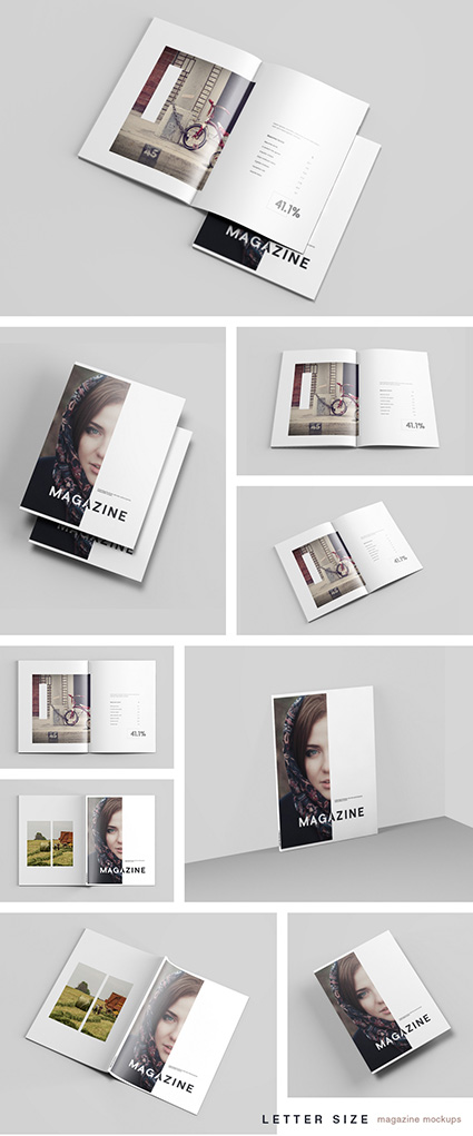 Letter Size Magazine Mockup Mockups Free Psd Templates Magazine Mockup Free Magazine Mockup Book Design Layout