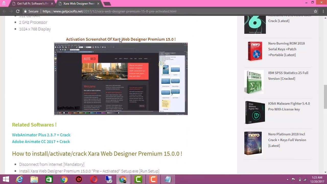 Xara Web Designer Premium 15 Pre Activated Setup By Getpcsofts