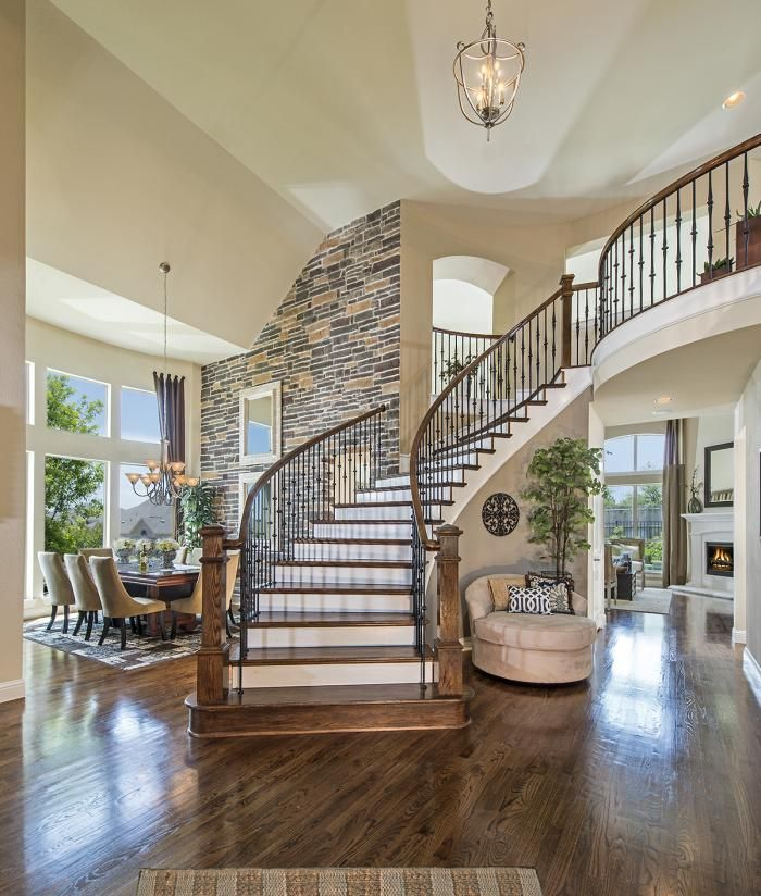 Staircase in Open Floor Plan. want to put my christmas tree by the ...