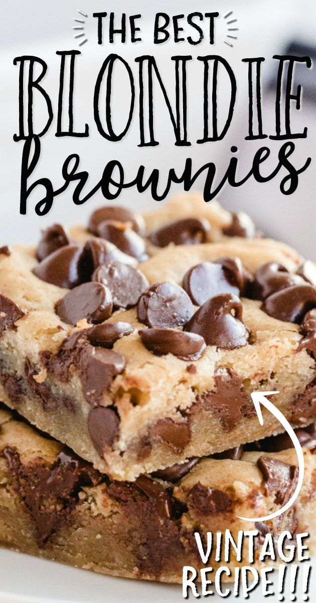 Blondies - Blondie Brownies