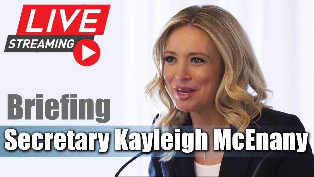 Live Kayleigh Mcenany Holds Press Conference At The White House In 2020 Kayleigh Mcenany White House Pressing