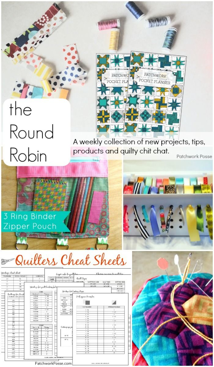 The Round Robin Edition 15 Quilting Printables Cheat
