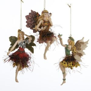Pack Of 12 Exotic Animal Print Jungle Fairy Christmas