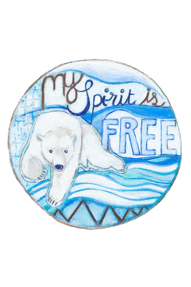 Free Spirit Inspirational Wall Art Print Polar Bear Print Etsy Animal Wall Art Kids Room Art Inspirational Wall Art