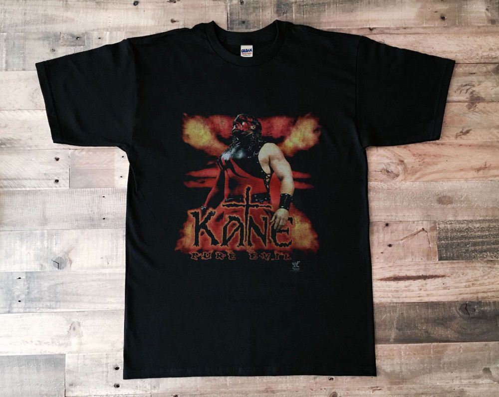 581c28745b84 Vintage T-Shirt 90s WWF Kane 1998 Wrestling Reprint GILDAN Size S - 3XL   fashion  clothing  shoes  accessories  mensclothing  shirts (ebay link)