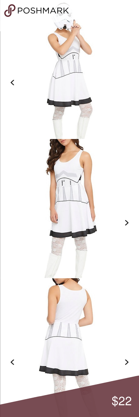 Stormtrooper dress Super soft cotton material Brand new From hot topic Hot Topic Dresses #hottopicclothes Stormtrooper dress Super soft cotton material Brand new From hot topic Hot Topic Dresses #hottopicclothes