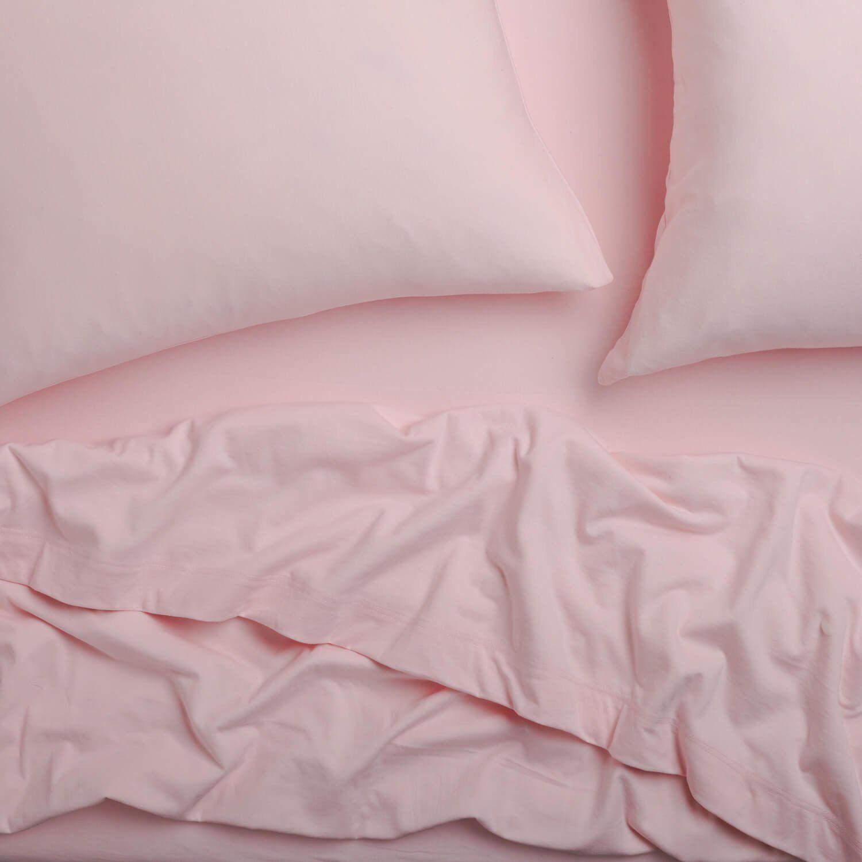 Super Soft T Shirt Jersey Sheet Set Light Pink Queen Dorm Room