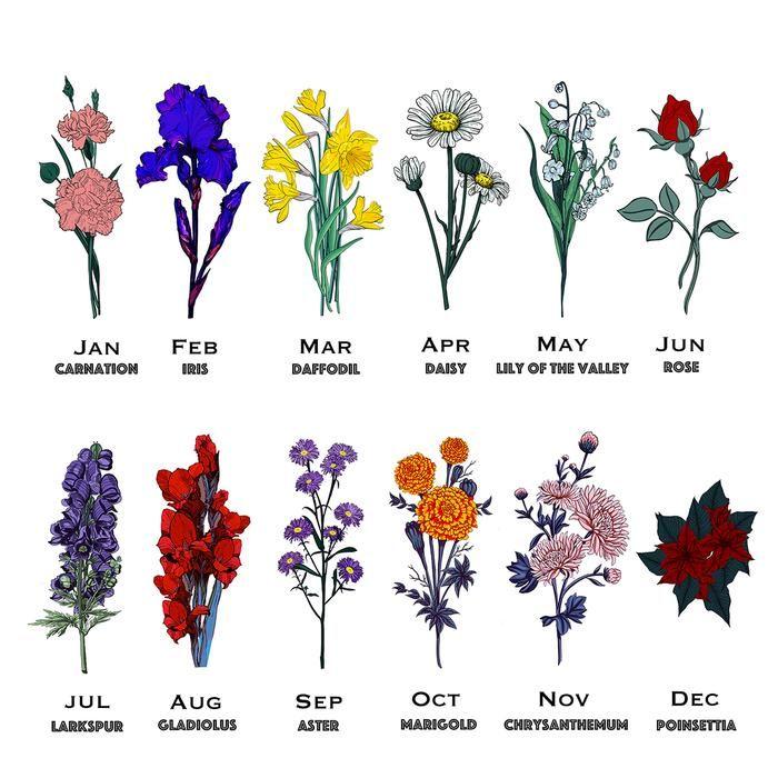 Personalised Birth Flower Blanket Scarf In 2020 Birth Flower Tattoos Birth Flowers Larkspur Flower Tattoos