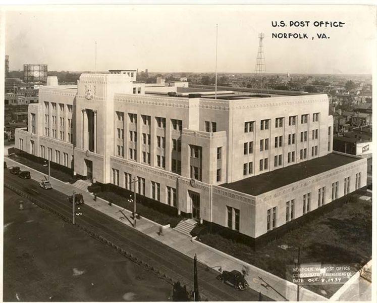 U.S. Post Office Norfolk, VA 1934