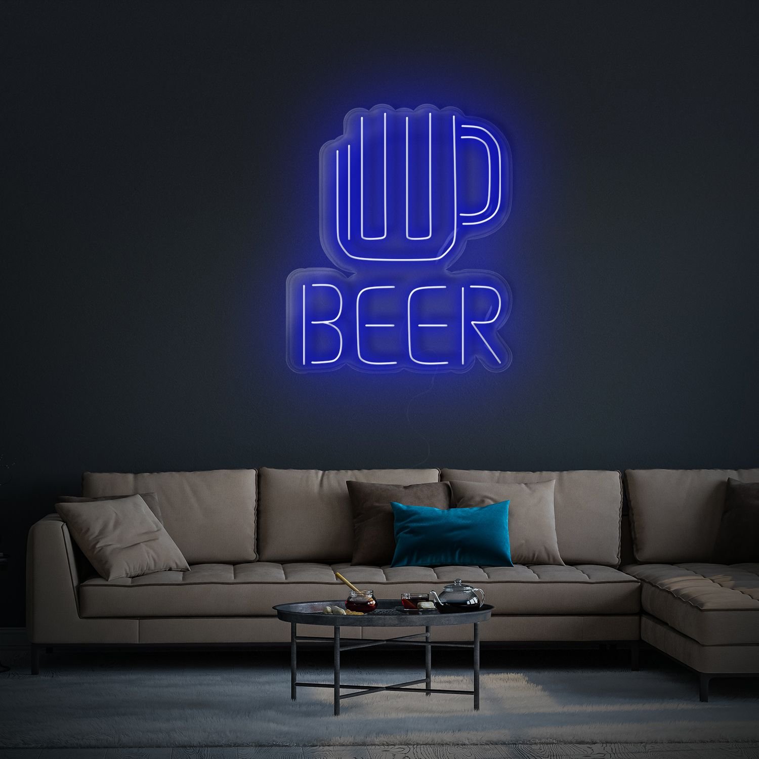 Neon Beer Sign - CreateNeon.com Bar or Pub Neon sign, Home bar sign