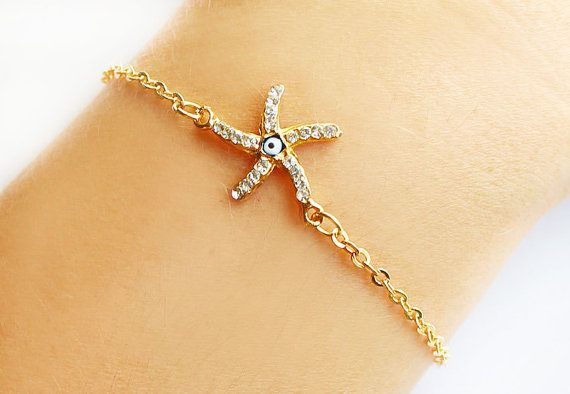 Starfish Bracelet Gold Beach By Asteriascollection