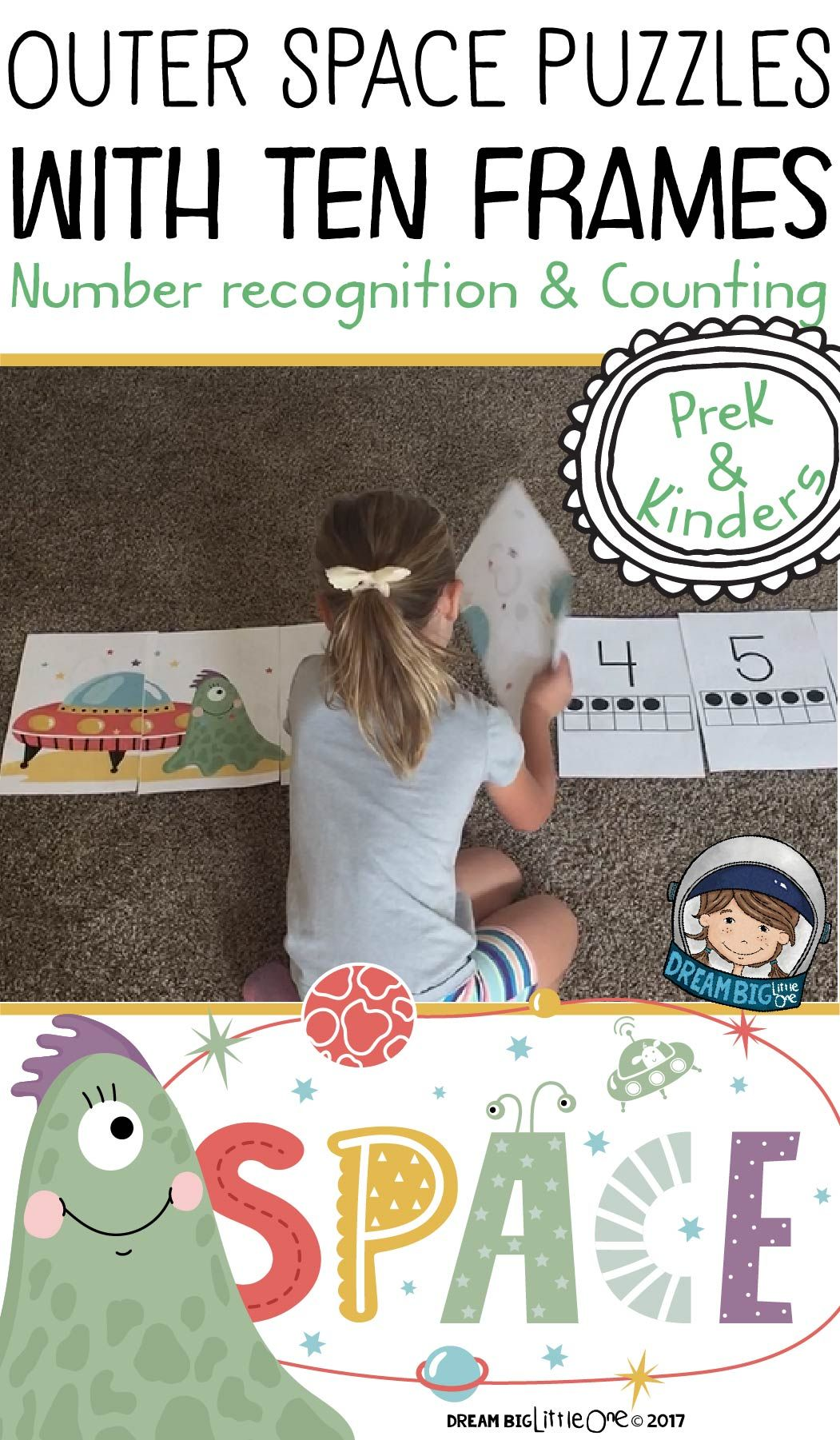 Outer Space Math Number Recognition And Counting For