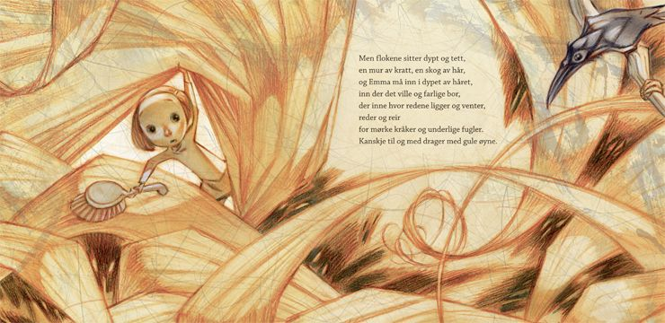 Mum's Hair (Håret Til Mamma) by Gro Dahle illustrated by Svein Nyhus.