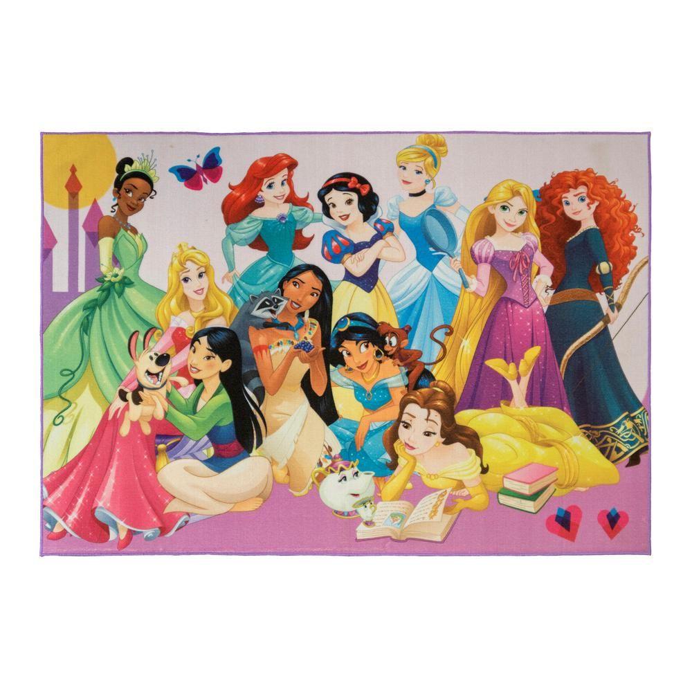 Face Frame Juvy Girls T-Shirt Disney Princesses