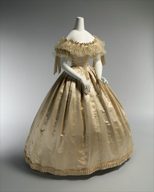 Wedding Dress; 1856-59