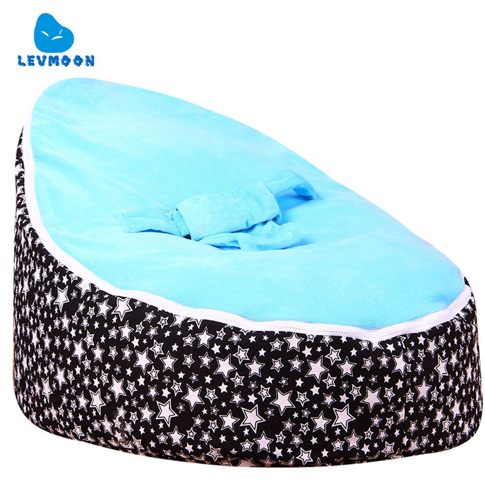 Donker Blauwe Zitzak.Levmoon Moyen Etoiles Sac De Haricots Chaise Enfants Lit Pour