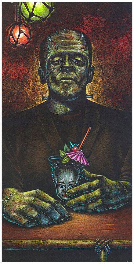 Doug Horne Artist Proof print Frankenstein by