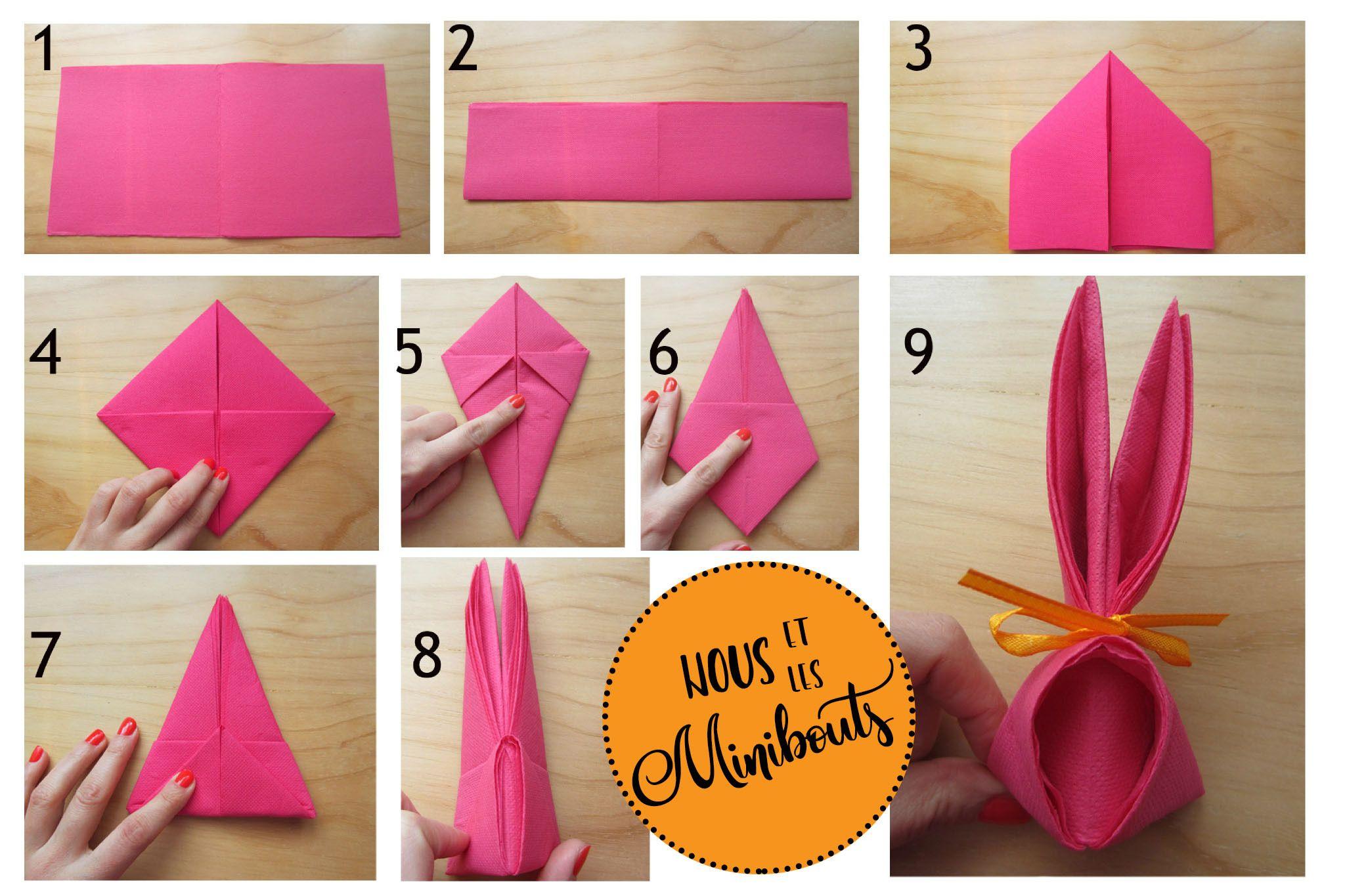 Pliage Serviette Lapin Paques Pliage Serviette Pliage Serviette Lapin Pliage Serviette Papier