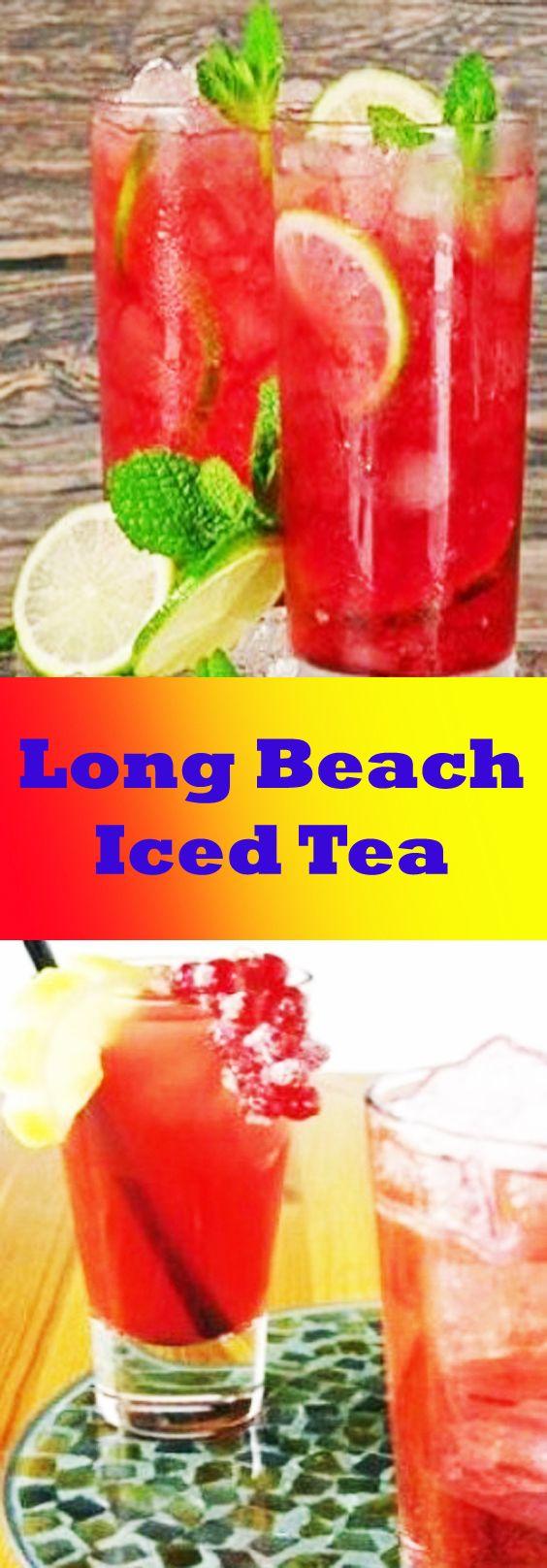 How To Make Long Beach Iced Tea Long Beach Iced Tea Recipe Iced Tea Recipes Beach Drink Recipes